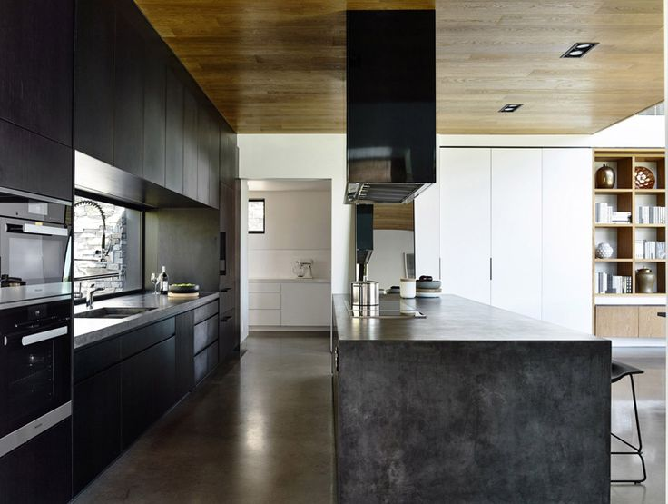 Black and concrete kitchen inspiration from a house in Melbourne, Australia