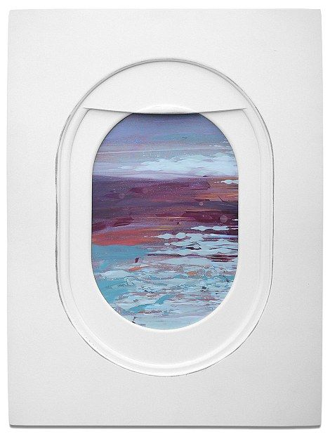 To create this view Darling used layered wood for the plane window frame, which serves as ...