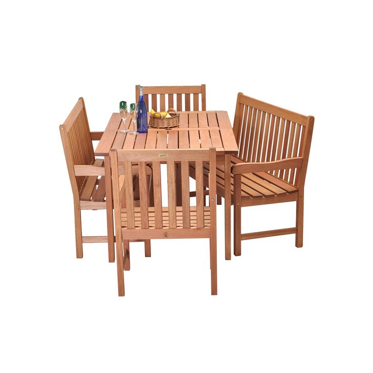 Amazonia Roma 5-pc. Bench Dining Set - Outdoor, Brown