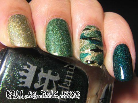 Glitter themed camo nails - great nail art tutorial- OMG YESSSSS!!!!!