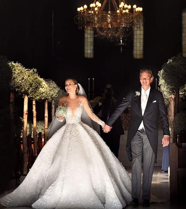 Victoria Swarovski and Werner Muerz Got Married in Portopiccolo, Italy | Victoria Swarovski's Michael Cinco Wedding Dress | POPSUGAR Fashion Photo 1