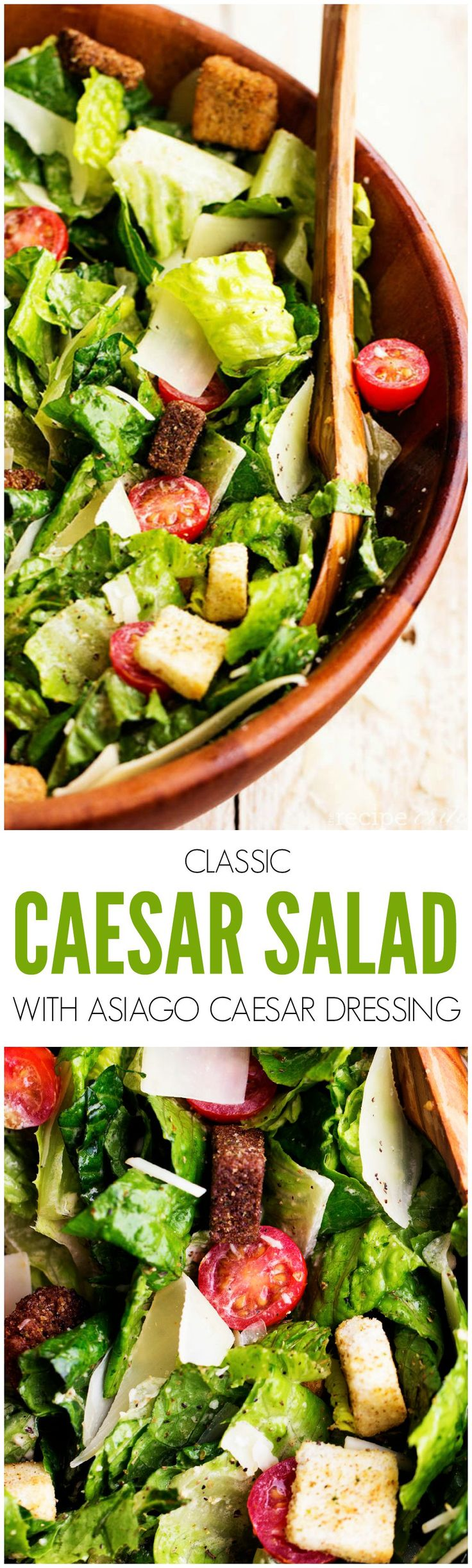 This is the BEST caesar salad that you will make! And the asiago caesar dressing is the perfect finishing touch!!