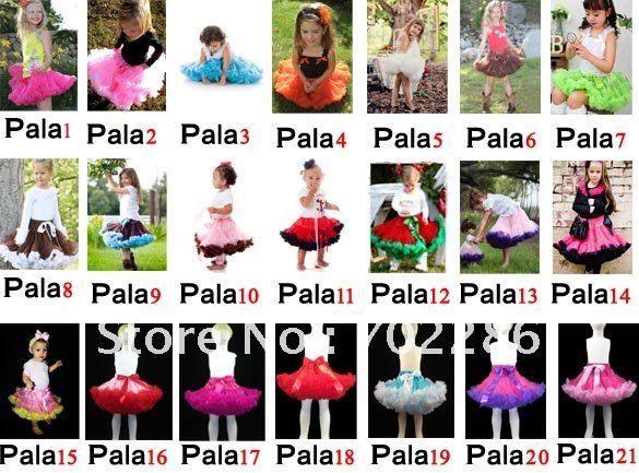 Чувствовать себя выбрать младенцы pettiskirts девочки-младенцы пачка юбка младенцы день рождения юбки младенческой плиссировка юбки