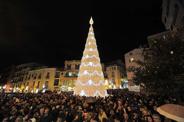 #Light show in the famous square of #Salerno.. #italy #newyear #italianlanguagecourse
