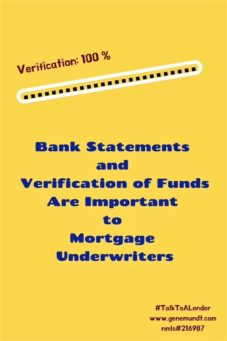 Bank Statements And Verification Of Funds Mortgage Quotes Underwriting Mortgage Payoff