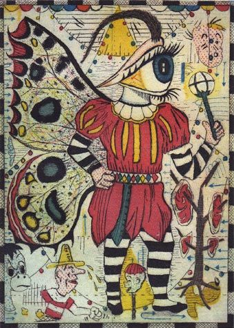 Tony Fitzpatrick. The Witness. Etching. Edition of 45. 5 x 7 inches.