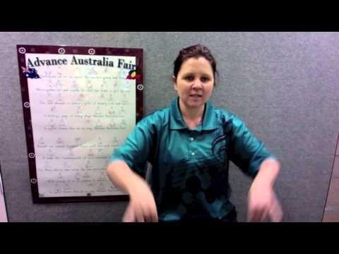 Advance Australia Fair - Auslan keyword signs