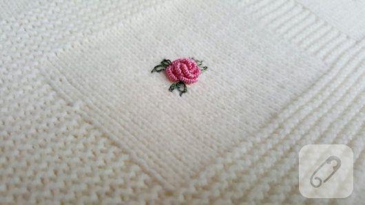 Rokoko güllü örgü bebek battaniyesi – 10marifet.org