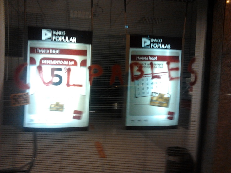 You Guilties! (Seen on Banco Popular. Valencia, February 4th 2012)
