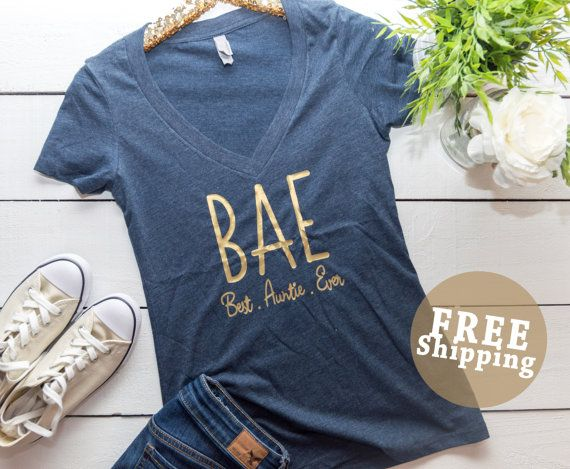 FREE ShipBAE Shirt Best Auntie Ever Best Auntie by MECOLLECTION15