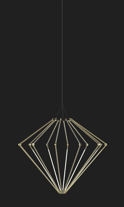 Thin Chandelier - Raw Brass | DSHOP