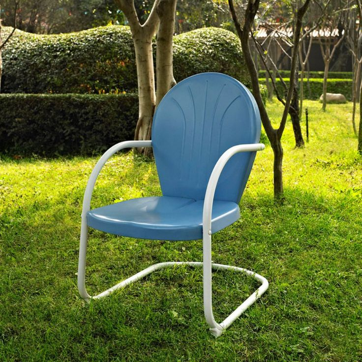 Crosley Griffith Metal Chair - Outdoor Lounge Chairs at Hayneedle