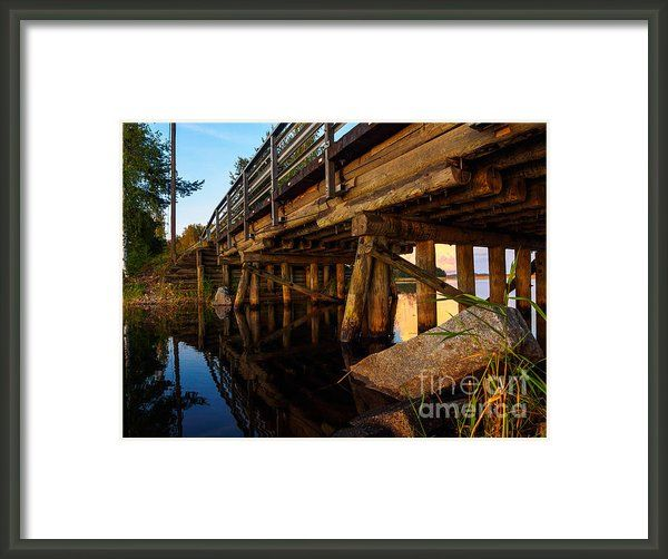 "Wooden Bridge And The Sunset In Kangaslampi / Finland by Ismo Raisanen. The watermark (""Fine Art America"") doesn't appear in the print you buy."