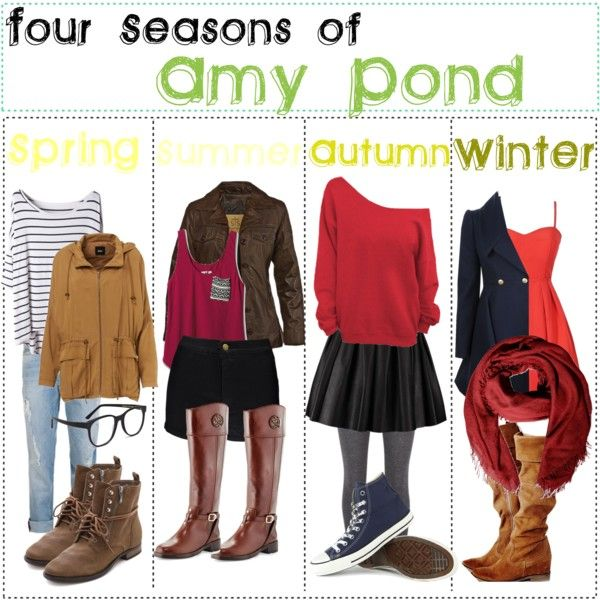 """Four Seasons of: Amy Pond"" by fabfandomsfash on Polyvore"