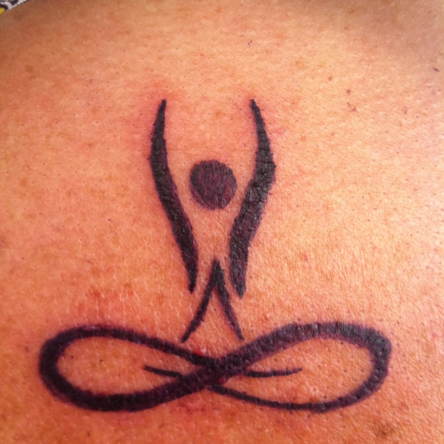 Infinity Tattoo yoga style.  Love this!