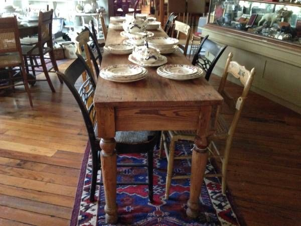 Old Farmhouse Dining Room Table Chairsreclaimed Simple Kitchen Repinned By Silver And Grey