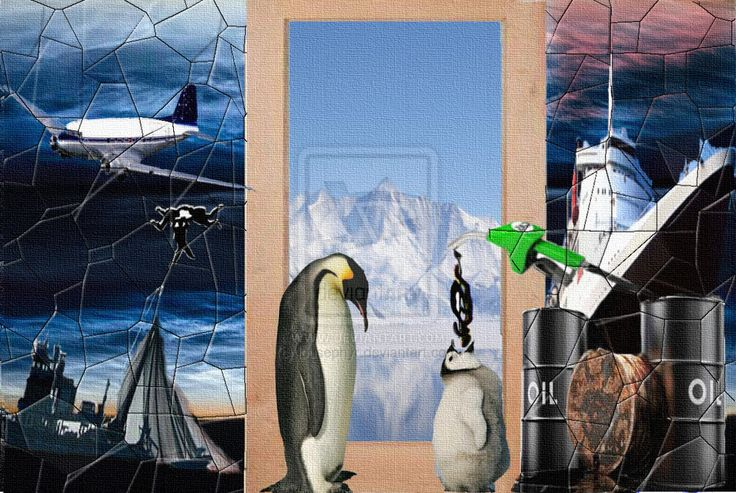 Baby Penguin Deceit /Think Stink  Antarctic Exploitation; Oil Exploitation ,Fishing Exploitation, Tourism Exploitation; slight can to ima...