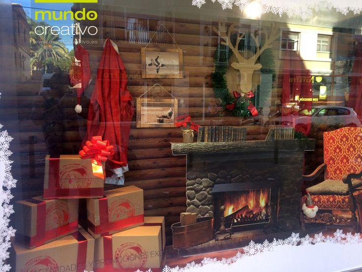 """Escaparate Navidad Farmacias Detalle -  """"Cabaña de Papa Noel"""""""