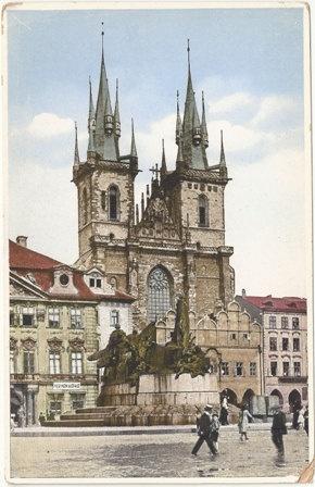 Prague postcard - Tyn Church