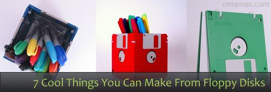 7 cool things you can make from floppy disks library - Uses for old floppy disks ...