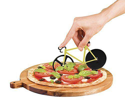 Black Friday Sale 2016 Duomishu roulette à pizza forme jaune et noir vélo creative en acier inoxydable anti-adhésif lames double roues de…
