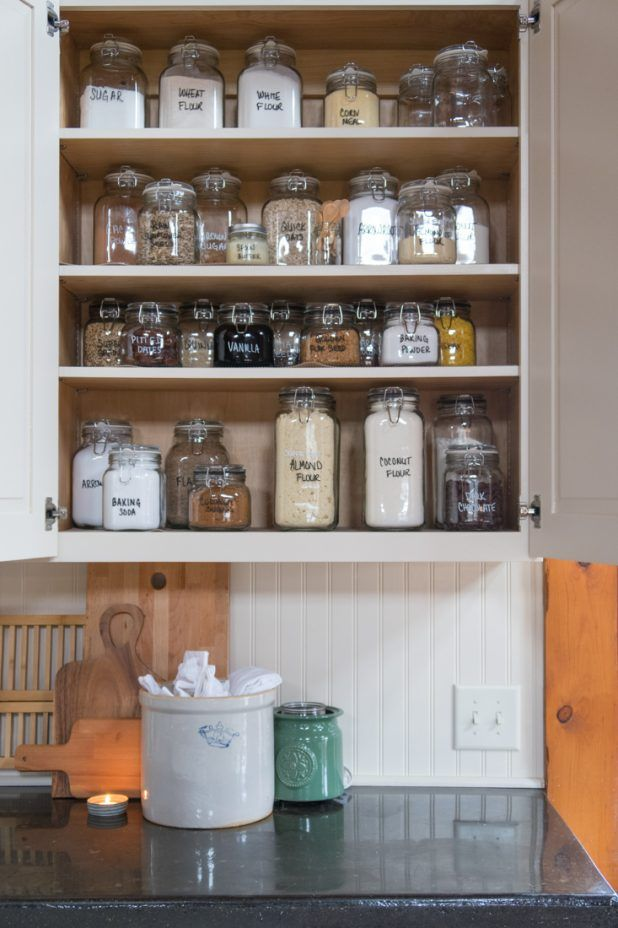 Baking Cupboard Storage Organization With Images Glass Food