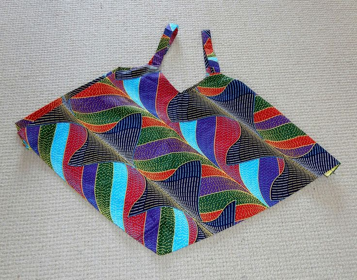 Multicoloured African Print Cami Top
