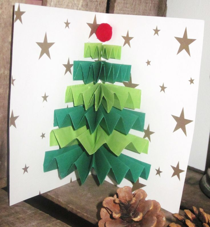 DIY Carte Sapin de Noël Accordéon