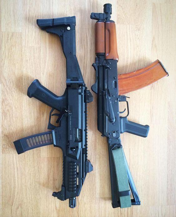 CZ Scorpion and AK