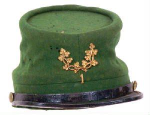 SONS OF IRELAND IN THE AMERICAN CIVIL WAROriginal Green Kepi belonging to the 35th Indiana Volunteer Infantry Regiment (aka 1st Irish Regiment). The 35th wore the distinctive gold shamrock...
