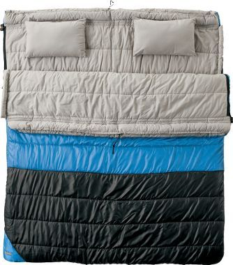 Sweet two person sleeping bag.