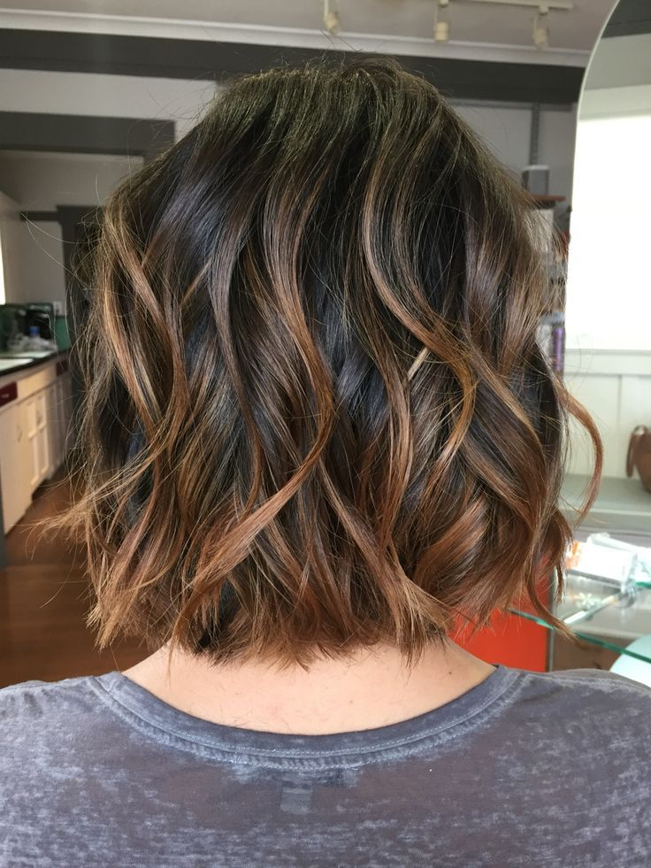 Short and sassy bob! I hair painted her balayage to give her some pop and add dimension to the cut