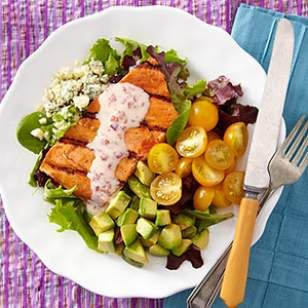 Southwestern Salmon Cobb Salad Recipe
