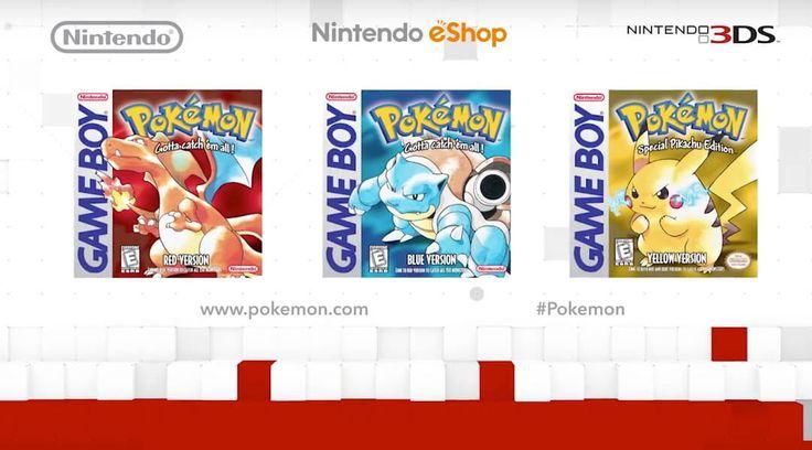 Pokemon Red, Blue, and Yellow coming to Nintendo E-Shop! Dreams do come true!!!!