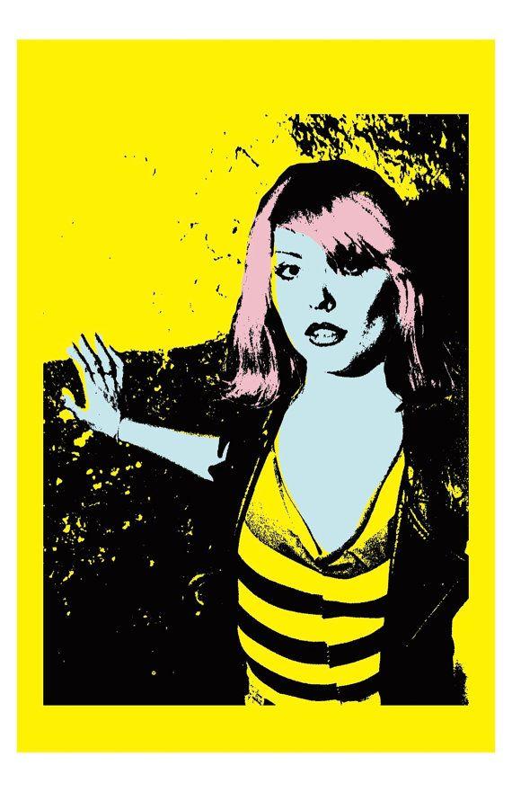 Debbie Harry 11X17 Art Print Punk Blondie by JunkyardBeautyShop
