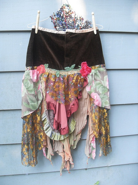 Autumn Rose Gypsy Skirt Upcycled Vintage Boho Style Reconstruct by Resurrection Rags, via Flickr