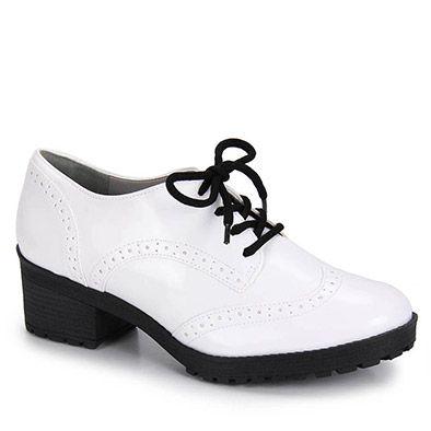 Sapato Oxford Feminino Via Marte - Branco