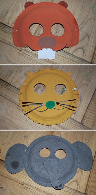 Animal Masks ~ @Sarah Paquette you could do this for the older kids if you can't find any premade!