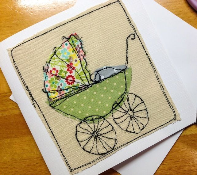 Image result for new baby card embroidery