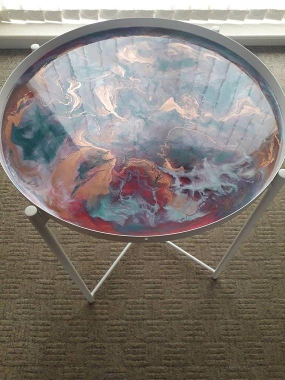 Custom resin table order for Linda