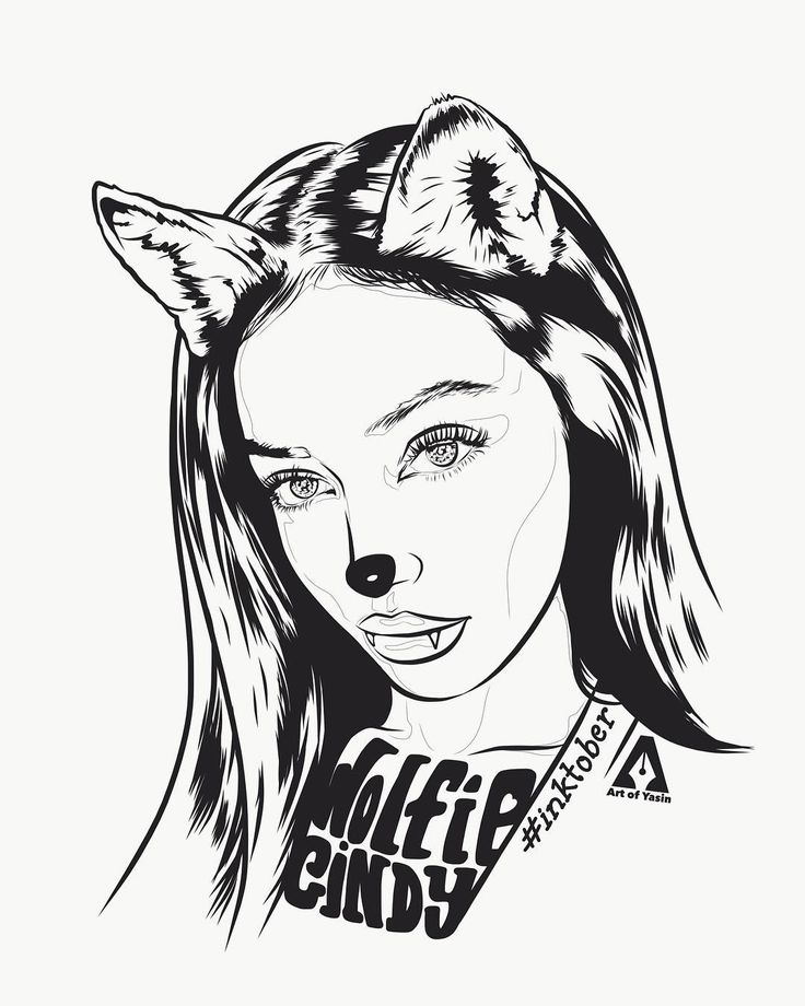 Late night sketch for @wolfiecindy  #cindykimberly #wolfiecindy #ink #inktober #inktober2017 #illustration #fanart #blackart #sketch #artwork #vectordrawing #illustration #beauty #drawingoftheday #love #thanksforwatching