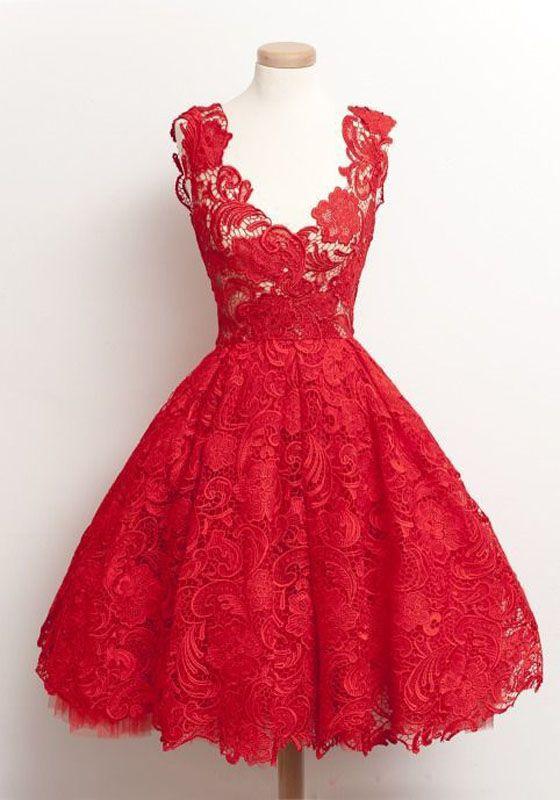 Abendkleider rot kurz
