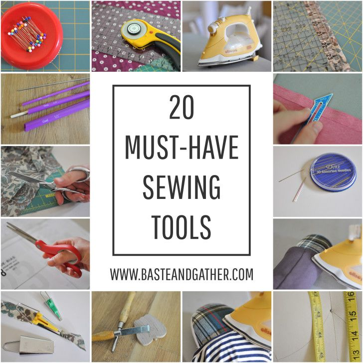 must have sewing tools collage