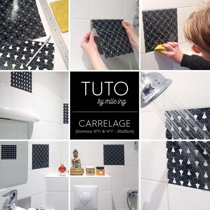 17 best ideas about salle de bain douche on pinterest station ouverte carr - Carrelage adhesif douche ...