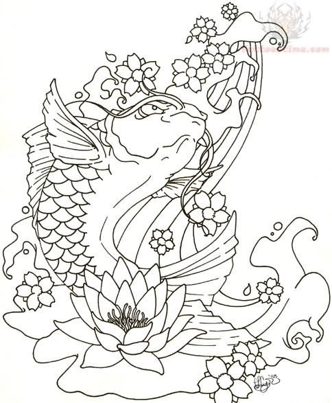 Tattoo Art Koi Fish By Tattoostime Coloring2 Pinterest