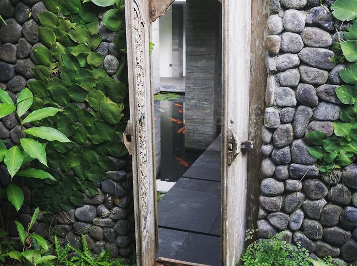 Oh so koi! This magical doorway connected our villa to the spa at Uma by…