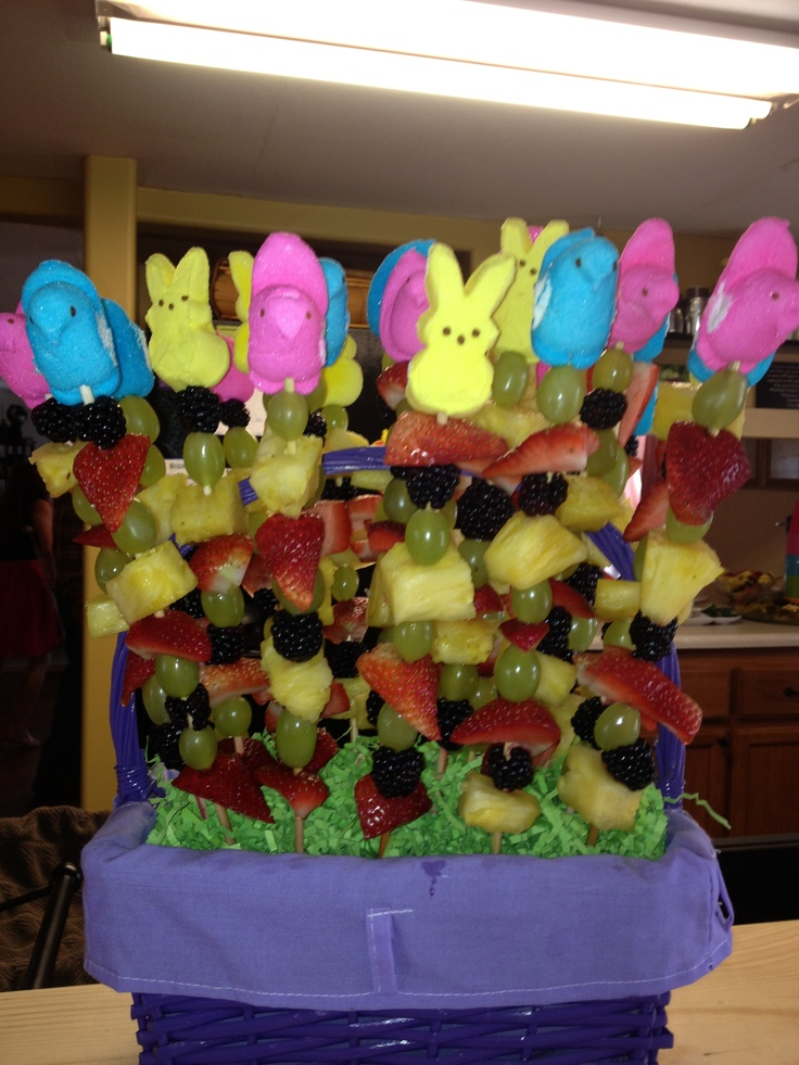 ... kabobs on Pinterest | Easter peeps, Frozen fruit and Valentine party
