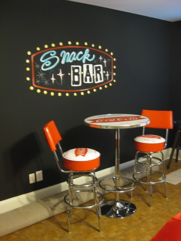 Is that chalkboard paint? awesome theater room decor | Home Movie Theater Ideas