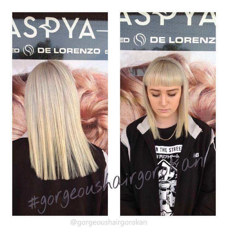 #love #hair #blonde #gorgeoushair #hairofthe day #beautiful #fashion #followme @gorgeoushairgo #longhair #picoftheday #midlength #fringe #bluntfringe #coolblonde #platinumblonde #platinum #aspya #delorenzo #colourist #centralcoastsalon #novacolourist #hairbydanielledrake