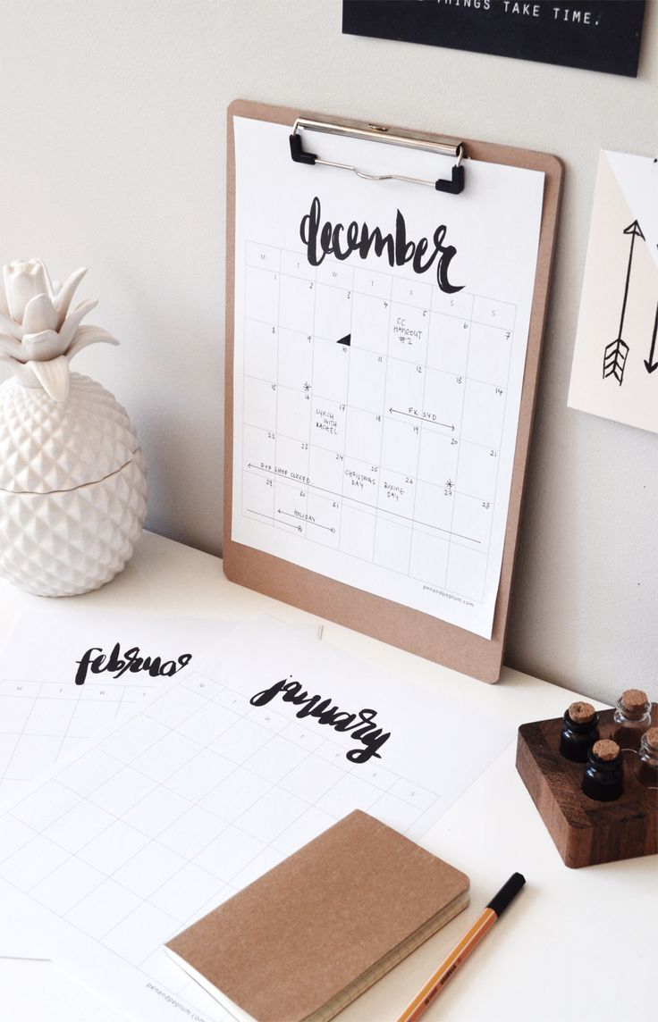 Pen and Peplum Monthly Calendar [CALENDAR] [ORGANIZATION] [FREE] [PRINTABLE]